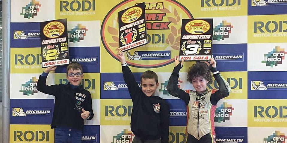 Guanyadors categoria 50cc Copa Rodi Dirt Track 2015