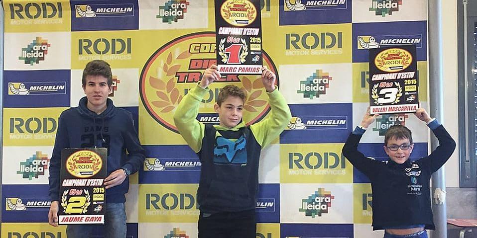 Guanyadors categoria 85cc Copa Rodi Dirt Track 2015
