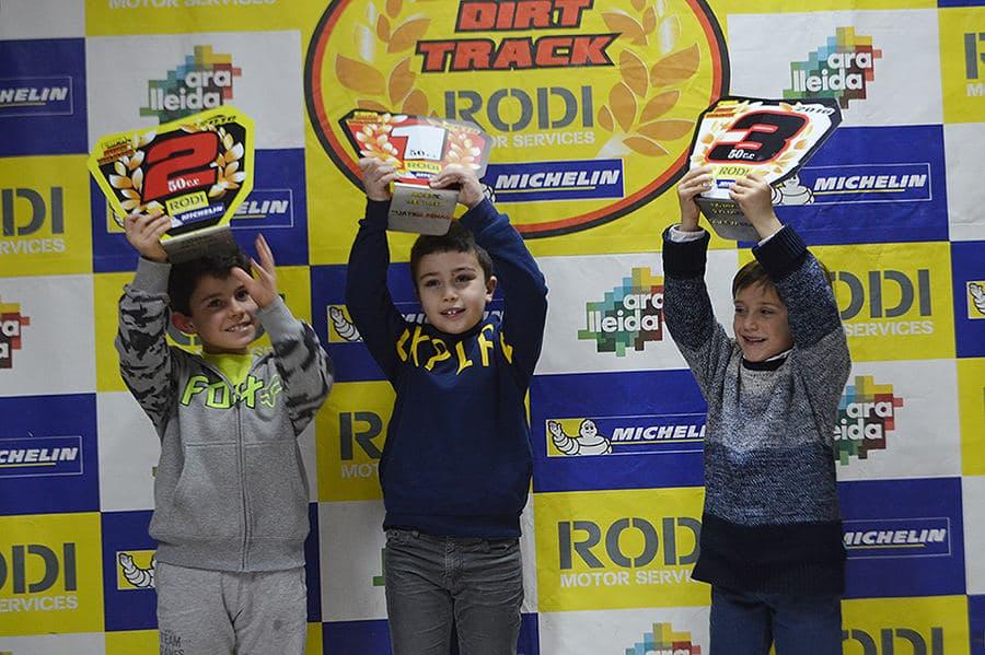 Guanyadors categoria alevines 50 Copa Rodi Dirt Track 2016