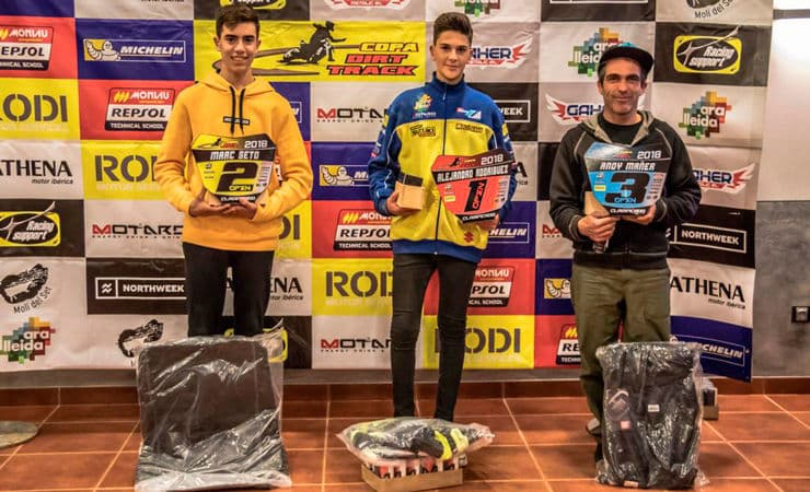 Guanyadors categoria Màsters Copa Rodi Dirt Track 2018