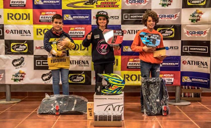 Guanyadors categoria Alevins Copa Rodi Dirt Track 2018