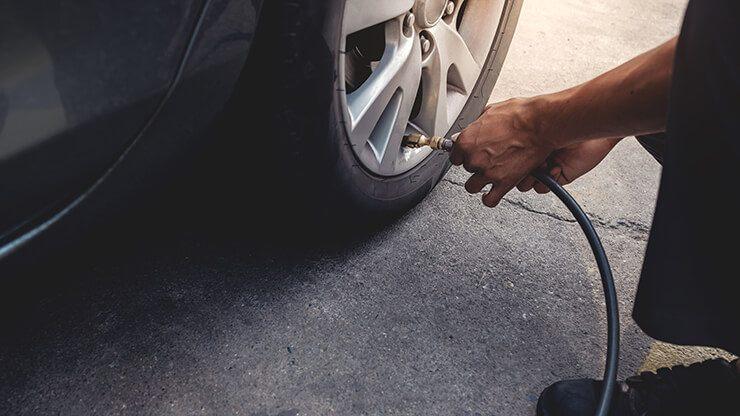 inflat pressió aire pneumàtics